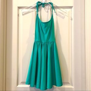 American Apparel | Teal Halter Skater Dress